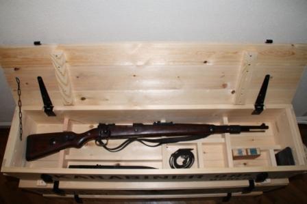 german ww rifle grenade wooden crate